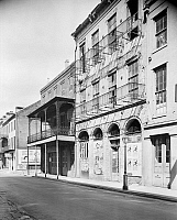 0132037 © Granger - Historical Picture ArchiveNEW ORLEANS: PHARMACY.   A view of the Dufilho Pharmacy at 512 Chartres Street in New Orleans, Louisiana. Photographed by Frances Benjamin Johnston, c1938.