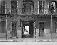 0132633 © Granger - Historical Picture ArchiveNEW ORLEANS: SONIAT HOUSE.   A view of the Joseph Soniat Dufossat house at 1133 Chartres Street in New Orleans, Louisiana. Photographed by Frances Benjamin Johnston, c1938.