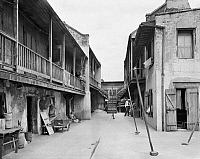 0132635 © Granger - Historical Picture ArchiveNEW ORLEANS: COURTYARD.   A view of the courtyard at 621 Dauphine Street in New Orleans, Louisiana. Photographed by Frances Benjamin Johnston, c1938.