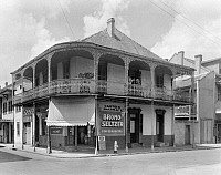 0132789 © Granger - Historical Picture ArchiveNEW ORLEANS: PHARMACY.   A view of Casteix Pharmacy at 721 Dauphine Street in New Orleans, Louisiana. Photographed by Frances Benjamin Johnston, c1938.