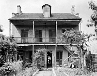 0133505 © Granger - Historical Picture ArchiveNEW ORLEANS: HOUSE.   A view of the house at 837 Governor Nicholls Street in New Orleans, Louisiana. Photographed by Frances Benjamin Johnston, c1938.