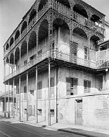 0162909 © Granger - Historical Picture ArchiveNEW ORLEANS: SABA HOUSE.   A view of the Joseph Saba house, also known as the Le Pretre Mansion or the House of the Turk, at 716 Dauphine Street in New Orleans, Louisiana. Photographed by Frances Benjamin Johnston, c1938.
