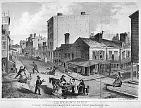 0000061 © Granger - Historical Picture ArchiveNEW YORK: LOWER EAST SIDE.   The notorious Five Points in lower Manhattan. Lithograph, American, 1860.