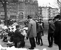 0000527 © Granger - Historical Picture ArchiveMADISON SQUARE GARDEN.   A flower vendor outside Madison Square Garden, c1905.