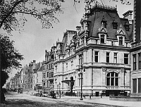 0003314 © Granger - Historical Picture ArchiveNEW YORK: FIFTH AVENUE.   View of Fifth Avenue in New York City, looking north from 65th Street with the John Jacob Astor mansion in the foreground. Photographed in 1898.