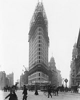 0014290 © Granger - Historical Picture ArchiveNYC: FLATIRON BUILDING.   The Flatiron Building under construction in 1902.
