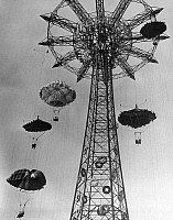0030732 © Granger - Historical Picture ArchiveNY: WORLD'S FAIR, 1939-40.   The Parachute Jump at the World's Fair at Flushing Meadows, New York, 1939.