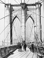 0035451 © Granger - Historical Picture ArchiveBROOKLYN BRIDGE, 1893.   View of the Manhattan tower of the Brooklyn Bridge, from the pedestrian promenade, 1893.