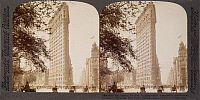 0035453 © Granger - Historical Picture ArchiveFLATIRON BLDG., NYC, 1904.   At the intersection of Broadway, Fifth Avenue, and 23rd Street: stereograph view, 1904.