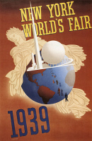 0052554 © Granger - Historical Picture ArchiveNYC WORLD'S FAIR, 1939.   Lithograph poster for the 1939 New York World's Fair by Joseph Binder.