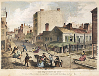 0052592 © Granger - Historical Picture ArchiveNEW YORK: LOWER EAST SIDE.   The notorious Five Points in lower Manhattan, New York, 1859. Lithograph, American, 1860.