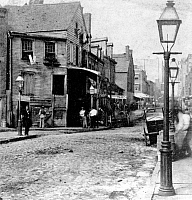 0065780 © Granger - Historical Picture ArchiveNEW YORK: FIVE POINTS.  Scene in the notorious Five Points area of lower Manhattan. Photograph, c1875.