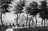 0067382 © Granger - Historical Picture ArchiveNEW YORK: CASTLE GARDEN.   Lithograph, 1848, by Nathaniel Currier.