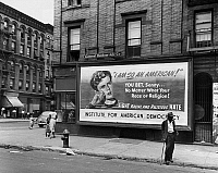 0076281 © Granger - Historical Picture ArchiveHARLEM: BILLBOARD, 1948.   Billboard in Harlem, New York City, 1948. Photographed by John Vachon.