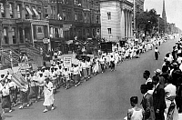 0076693 © Granger - Historical Picture ArchiveHARLEM PARADE, 1938.   Parade of followers of Father Divine in Harlem, 1938.