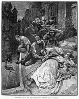 0089330 © Granger - Historical Picture ArchiveNEW YORK: HEAT WAVE, 1883.   Tenement dwellers trying to get some sleep outside on a sweltering summer night. Line engraving after W.A. Rogers, 1883.