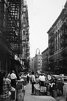 0092270 © Granger - Historical Picture ArchiveNEW YORK: LOWER EAST SIDE.   Street scene on the Lower East Side, New York, with typical tenement buildings. Photographed c1970.