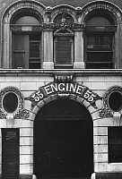 0092272 © Granger - Historical Picture ArchiveNEW YORK: FIREHOUSE.   Firehouse on the Lower East Side, New York. Photographed c1960.