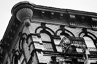 0092273 © Granger - Historical Picture ArchiveNEW YORK: LOWER EAST SIDE.   Typical tenement architecture of the Lower East Side, New York. Photographed c1960.