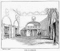 0092372 © Granger - Historical Picture ArchiveMADISON SQUARE GARDEN.   Foyer, or supper room, of the second incarnation of Madison Square Garden (1890-1925), designed by Stanford White. Drawing, 1894.