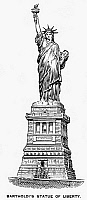 0092391 © Granger - Historical Picture ArchiveSTATUE OF LIBERTY.   Wood engraving, 19th century.