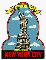 0092414 © Granger - Historical Picture ArchiveSTATUE OF LIBERTY.   American decal, c1970.