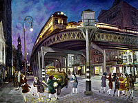 0102707 © Granger - Historical Picture ArchiveNEW YORK: 6TH AVENUE, 1928.   'Sixth Avenue Elevated at Third Street.' Oil on canvas by John Sloan, 1928. EDITORIAL USE ONLY.