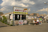 0121299 © Granger - Historical Picture ArchiveCONEY ISLAND: JOHN'S DELI.   John's Deli food stand on the boardwalk at Coney Island, Brooklyn, New York. Photograph, 2009. Full credit: Maggie Downing / Granger, NYC -- All rightsw York. EDITORIAL USE ONLY.