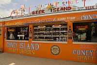 0121323 © Granger - Historical Picture ArchiveCONEY ISLAND: BAR.   The Beer Island outdoor bar at Coney Island, Brooklyn, New York. Photograph, 2009. Full credit: Maggie Downing / Granger, NYC -- All rights reserved.