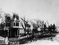 0124757 © Granger - Historical Picture ArchiveTHE BRONX, c1900.   Vyse Avenue, west side from East 176th Street to East 177th Street, the Bronx, New York, c1900.