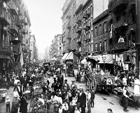 0124795 © Granger - Historical Picture ArchiveNEW YORK: LOWER EAST SIDE.   Mulberry Street in lower Manhattan, c1900.