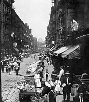 0125132 © Granger - Historical Picture ArchiveNEW YORK: LOWER EAST SIDE.   A street on Manhattan's Lower East Side, c1900.