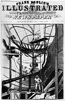 0125158 © Granger - Historical Picture ArchiveSTATUE OF LIBERTY, 1886.   Men working inside the head of the statue in New York Harbor, assembling its parts with steel girders. Front page wood engraaving from 'Frank Leslie's Illustrated Newspaper,' 23 October 1886.