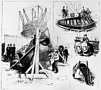 0125193 © Granger - Historical Picture ArchiveSTATUE OF LIBERTY, 1885.   Visitors to Bedloe Island in New York Harbor see fragments of the statue, delivered in June. Construction on the pedestal is still ongoing. Wood engraving, American, October 1885.