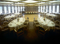 0129623 © Granger - Historical Picture ArchiveWORLD TRADE CENTER, c1975.   The ballroom for private functions at 'Windows on the World,' the restaurant complex on the 106th and 107th floors of the World Trade Center in New York City, c1975.