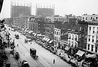 0130828 © Granger - Historical Picture ArchiveNEW YORK: LITTLE ITALY.   Aerial view of a festival on 1st Avenue in Little Italy, New York City. Photograph, n.d.