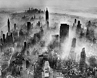 0172672 © Granger - Historical Picture ArchiveNEW YORK CITY, c1965.   Air pollution over New York City. Photograph, c1965.