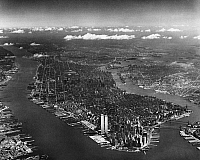 0175077 © Granger - Historical Picture ArchiveNEW YORK CITY, c1974.   Aerial view of Manhattan and surroundings. Photograph, c1974.