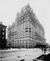 0175551 © Granger - Historical Picture ArchiveNYC: WALDORF-ASTORIA.   The original Waldorf-Astoria Hotel on Fifth Avenue in New York City, built in 1893 and demolished in 1929. Photograph, c1902.