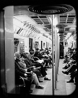 0186561 © Granger - Historical Picture ArchiveNEW YORK CITY: SUBWAY, 1971.   Passengers on the subway in New York City. Photograph, 1971.
