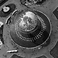 0186565 © Granger - Historical Picture ArchiveQUEENS: WORLD'S FAIR, 1964.   Aerial view of the Unisphere at the 1964 New York World's Fair in Flushing Meadows, Queens. Photograph, c1964.