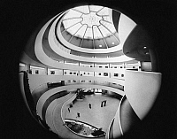 0186585 © Granger - Historical Picture ArchiveGUGGENHEIM MUSEUM, c1965.   An interior view of the Guggenheim Museum in New York City, designed by Frank Lloyd Wright. Photograph, c1965.
