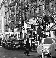 0186589 © Granger - Historical Picture ArchiveGREENWICH VILLAGE, c1965.   A view of MacDougal Street in Greenwich Village, New York City. Photograph, c1965.