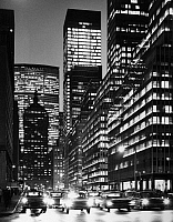 0186599 © Granger - Historical Picture ArchiveNEW YORK CITY, c1965.   A view of Park Avenue in New York City at night, including Grand Central Station, the Pan Am Building (now the MetLife Building) and the Union Carbide Building. Photograph, c1965.
