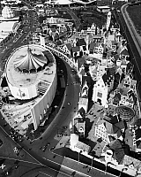0259088 © Granger - Historical Picture ArchiveQUEENS: WORLD'S FAIR, 1964.   Aerial view of the grounds of the 1964 New York World's Fair in Flushing Meadows, Queens. Photograph, c1964.
