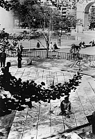 0259218 © Granger - Historical Picture ArchiveNYC: WASHINGTON SQUARE.   Patchwork Plaza in Washington Square Park in Manhattan, New York City. Photograph, c1972.