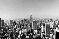 0259501 © Granger - Historical Picture ArchiveNEW YORK CITY, 20th CENTURY.   A view of the New York City skyline, looking south. Photograph, mid to late 20th century.