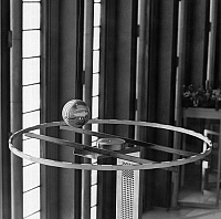 0259686 © Granger - Historical Picture ArchiveUNITED NATIONS, 1969.   The Foucault pendulum in the lobby of the United Nations General Assembly building in New York. Photograph, 1969.
