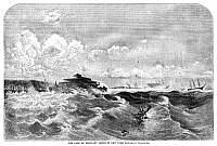0265338 © Granger - Historical Picture ArchiveNEW YORK: STORM, 1860.   A gale that struck New York Harbor on 10 February 1860. Contemporary American engraving.