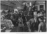 0265987 © Granger - Historical Picture ArchiveCONEY ISLAND: FERRY, 1886.   'On the Way to Coney Island.' Engraving, American, 1886.